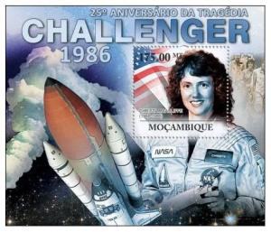 Mozambique MNH S/S Space Challenger Tragedy 2011