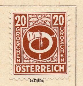 Austria 1945 Early Issue Fine Mint Hinged 20g. 270981