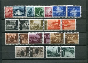CROATIA GERMAN PUPPET STATE 1941-43 VIEWS TETE BECHE PAIRS 30a-47a MNH (read)