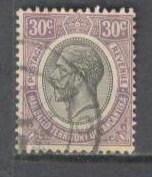 TANGANYIKA Sc# 34 USED VGF King George V KGV