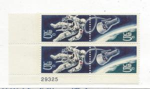 United States, 1331-32, 5c Accomplishments Space Plate Block of 4 #29325 LL, MNH