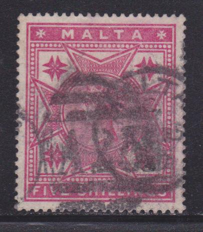Malta 14 VF-used bold cancel nice color scv $ 95 ! see pic !