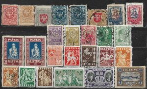 COLLECTION LOT OF 26 LITHUANIA 1919+ CLEARANCE