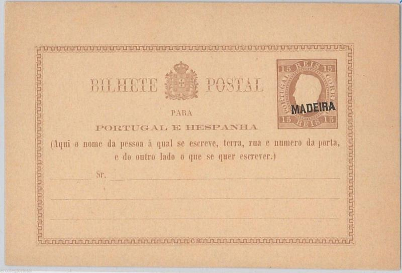 PORTUGAL Madeira  - POSTAL STATIONERY CARD: Higgings & Gage # 1  - overprint