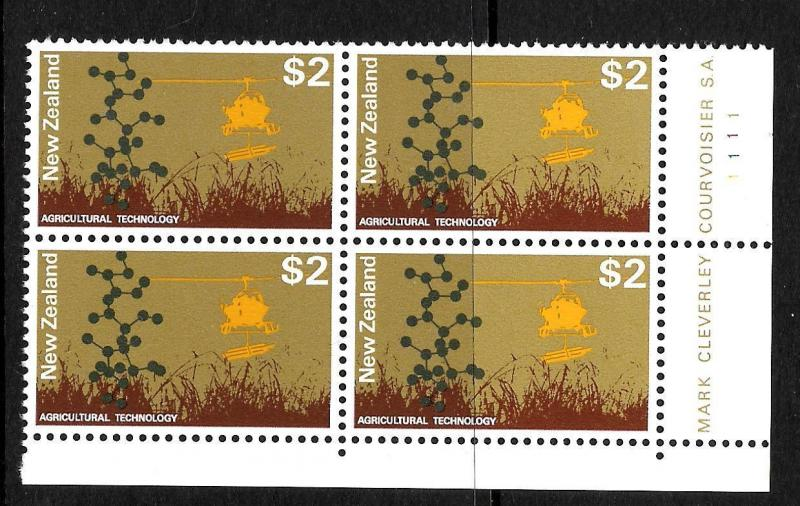 NEW ZEALAND  1970   $2   PICTORIAL   MNH   PLATE  BLK 4 #1111