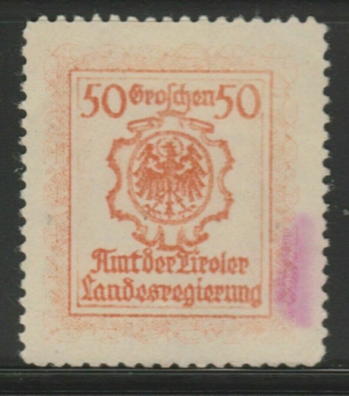 Office Tyrolean Provincial Government Cinderella Poster Stamp Reklam. A7P5F836