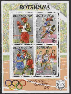 Botswana #539a s/sheet F-VF Mint NH ** Barcelona Summer Olympics