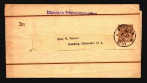 Germany 1890 Postal Wrapper Used / Berlin CDs - Z14942