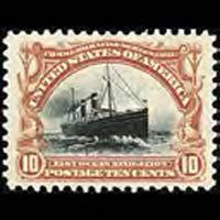 U.S.A. 1901 - Scott# 299 Ship-Ocean Navigation 10c No Gum