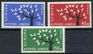 CYPRUS Sc#219-21 1963 EUROPA Issue Complete OG Mint Hinged