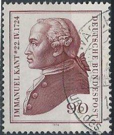 Germany 1144 (used) 90pf Immanuel Kant (1974)
