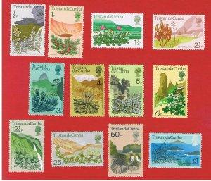 Tristan da Cunha #162-173  MVFLH OG   FLORA  Free S/H