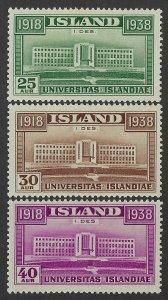 Iceland Scott 209-211 Mint Hinged