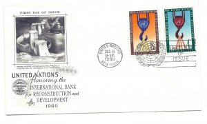 UN 82-83 Int'l Bank for Reconstruction and Development  on ArtCraft 4c, FDC