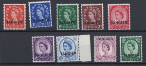 MOROCCO AGENCIES TANGIER  1956  S G 313 - 322 VALUES TO 1/3D MNH