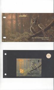 Isle of Man 733 Owls  MNH Presentation Folder