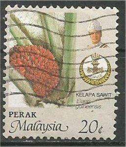 PERAK, 1986, used 20c, Agriculture Scott 165