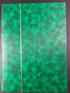 International Denmark - Suomi Stamps in Green Stock Book some pages falling out
