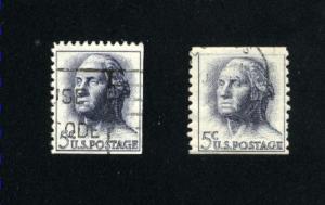 USA # 1213,1229 ``1 used 1962-66 PD .16