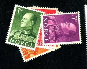 Norway #370-374 MINT VF No Gum Cat$90