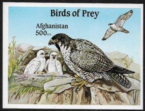 Afghanistan MNH IMP. S/Sheet - Birds of Prey