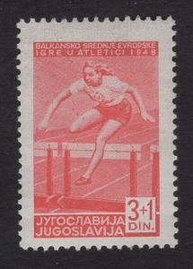 Yugoslavia   #B156  MH  1948  sports hurdles 3d + 1d