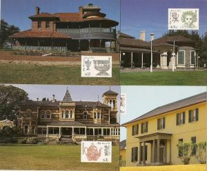 Australia 1426-8 1995 National Trust Maxi Card set
