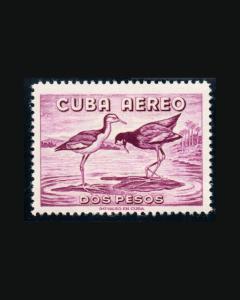 VINTAGE:CUBA 1956 OG NH PRISTINE C145 LOT 1956YY