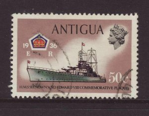 1970 Antigua 50c With Watermark 12 - Crown Right of CA - Unlisted SG281var