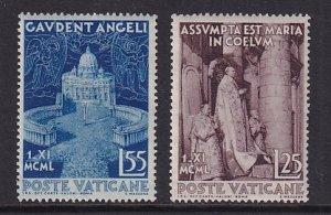 Vatican City   #143-144     MNH  1951  Assumption of the Virgin Mary
