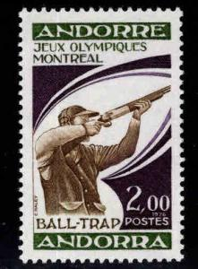 Andorra (French ) Scott 249  MNH** Trapshooting stamp