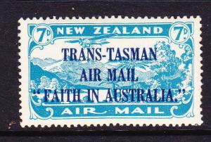 NEW ZEALAND 1934 7d TRANS TASMAN AIRMAIL MNH SG 554