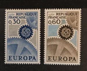 France 1967 #1178-79, MNH, CV $.55