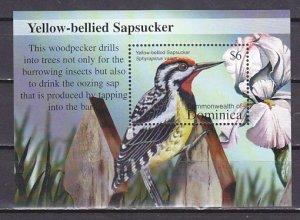 Dominica, Scott cat. 2382 only. Sapsucker Bird s/sheet. ^