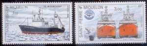 St Pierre & Miquelon 1987 SC# 496,498 MNH L455
