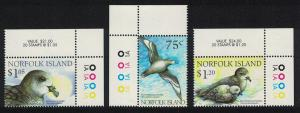 Norfolk Birds Endangered Species Solander's Petrel 'Providence Petrel' 3v