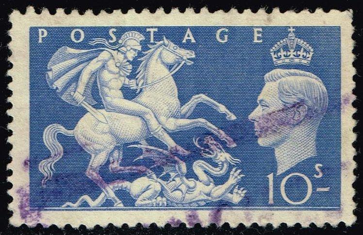 Great Britain #288 St. George Slaying Dragon; Used (5.00)