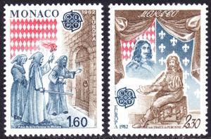 Monaco Scott 1329-1330  complete set  F to VF mint OG NH.