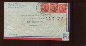 WS7 SAVINGS STAMP  ILLEGAL USE ON  1943 COVER (CV 105)