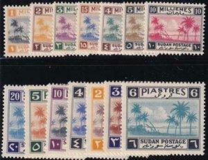 British Sudan 1941 SC 63-78 MNH Set