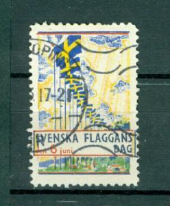 Sweden Poster Stamp 1933. National Day June 6. Swedish Flag. Cancel