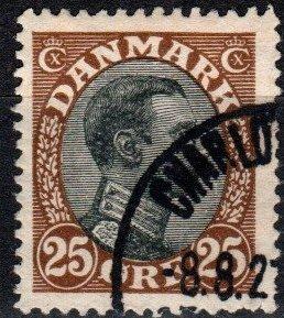 Denmark #107  F-VF Used  CV $8.75  (X1535)