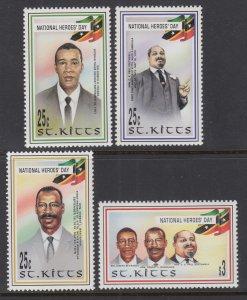 St Kitts 434-437 MNH VF