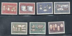 Greenland Sc 165-72 1986-1988 artifacts stamp set mint NH