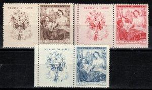 Czechoslovakia #343-5 MNH With Labels CV $4.50  (X271)