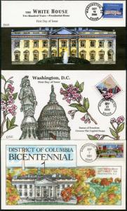 #2561 // #3813 (3) DIFFERENT COLLINS FDC CACHET HAND PAINTED BP7489