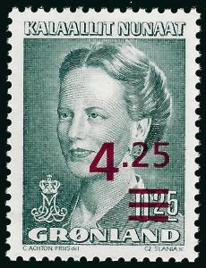 Nice Greenland Slania #226 Queen Margrethe MNH VF...Kalaallit is Hot now!