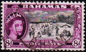 Bahamas. 1954 8d S.G.209 Fine Used