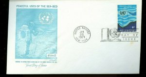 UNITED NATIONS FDC'S approximately 500 1960's to mid 80's cover FREE shipping