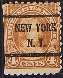 USA, Martha Washington 4 cents 1923, Sc #556b, Perf:10 top, botton